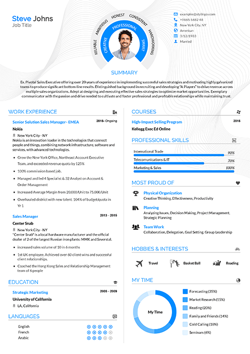 Cv Templates Stylingcv German