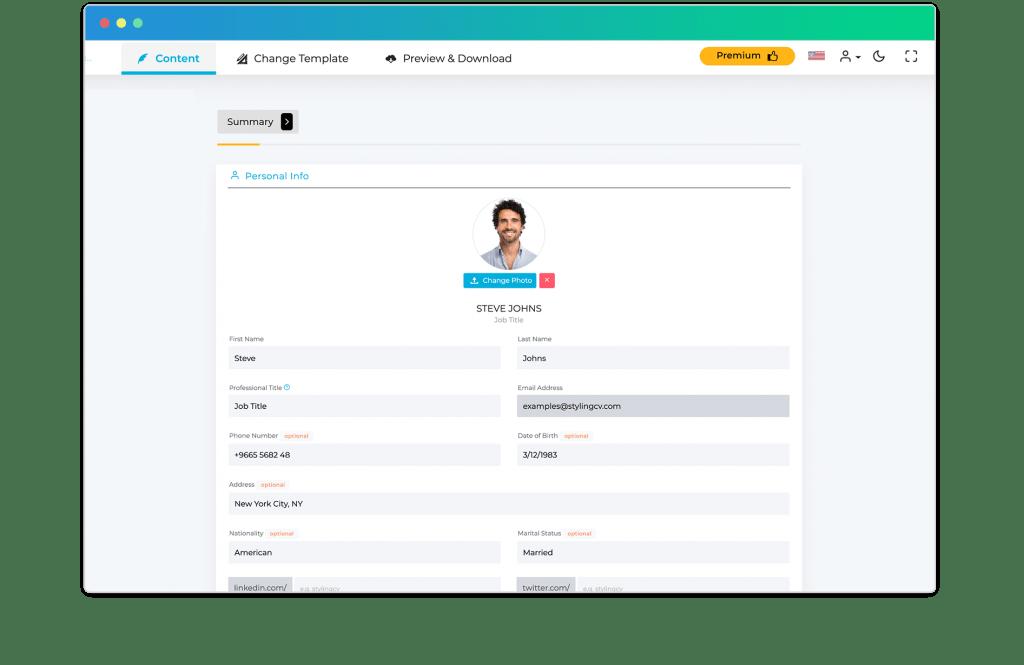 CV Builder that works